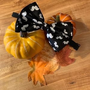 Black Mustache Youth Bow tie